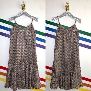 NEW Urban Outfitters animal print midi dress